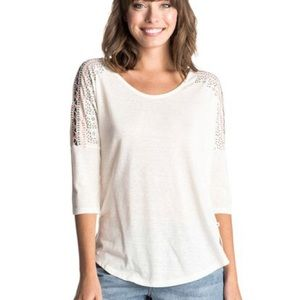 Roxy Essential Dolman Embroidered Nature Arrow Tee